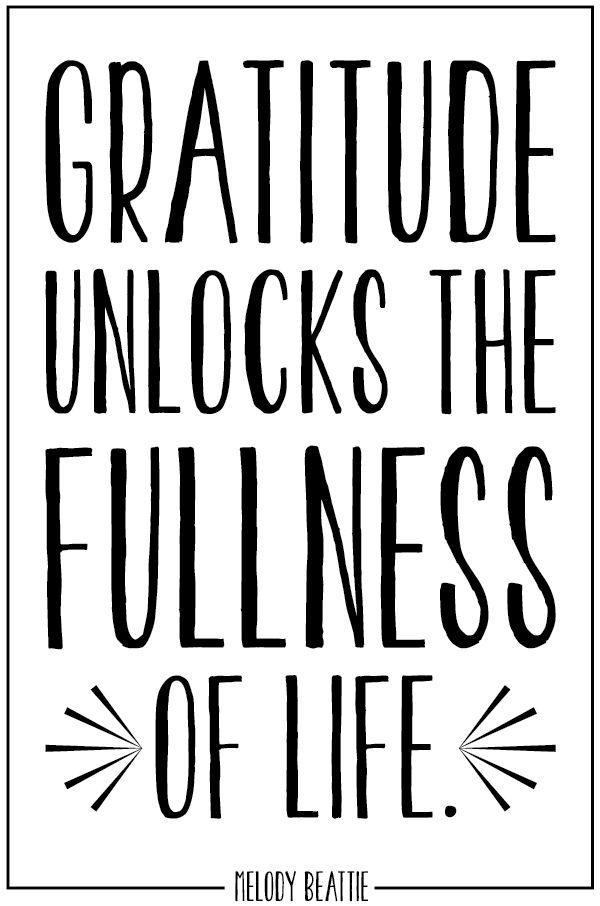 Gratitude unlocks the fullness of life. #quotes