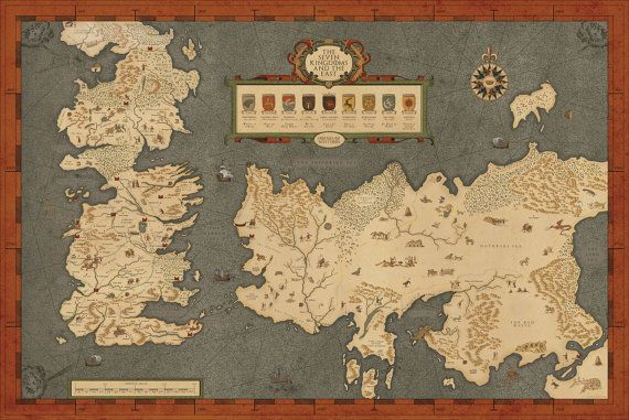 Houses of Westeros map Map of The Seven by ConsiderGraphics