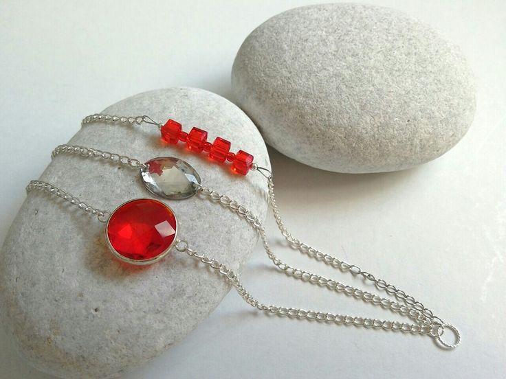 Triple chain ankle bracelet. https://m.facebook.com/ElitasBijoux?ref=hl&__nodl