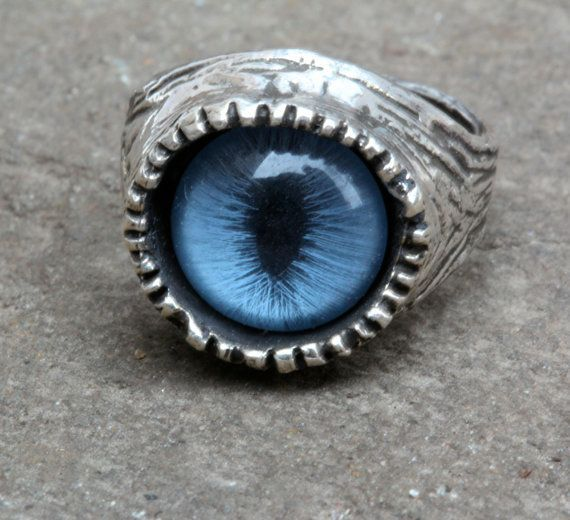 Blue Cat  Eye Ring sizes 4 to 11 self adjustable by billyblue22
