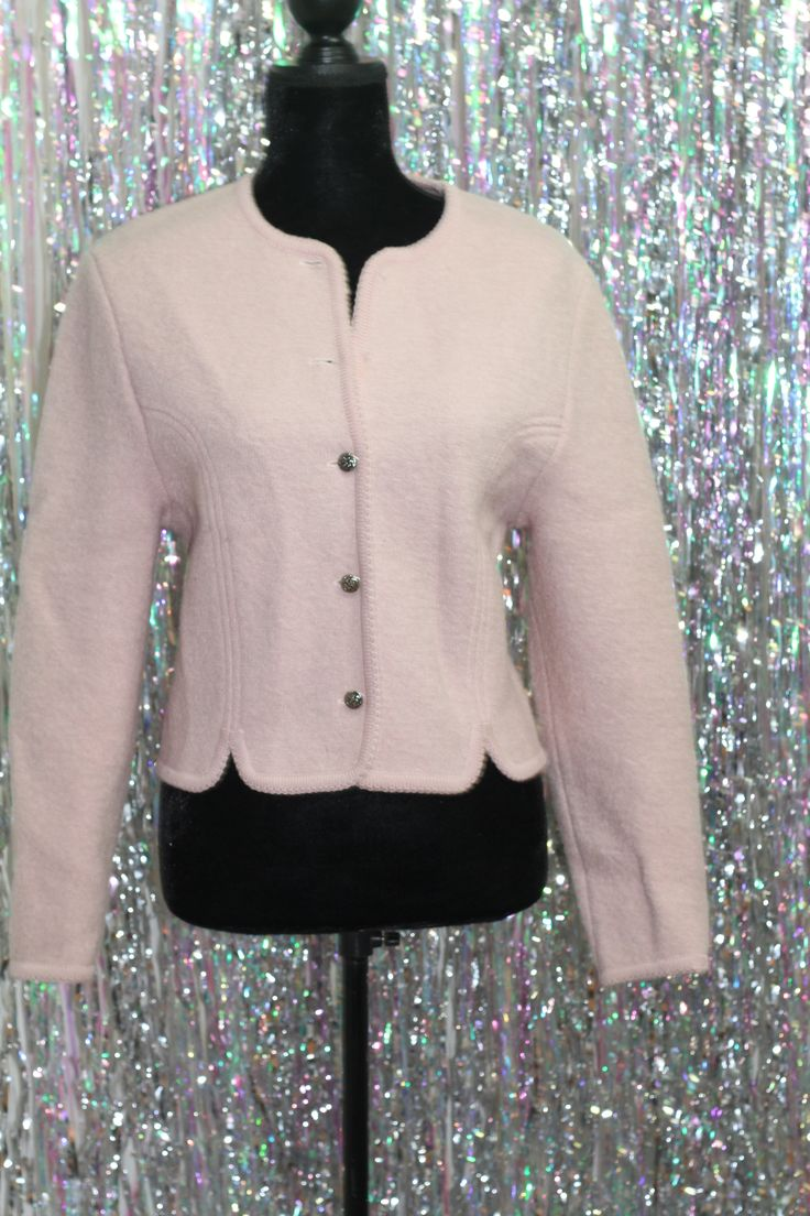 Carol Reed Hand Knitted Pink Wool Sweater (6)