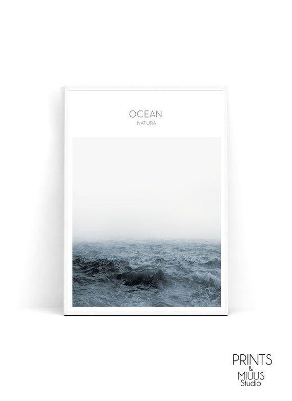 Ocean print sea photography ocean wall art by PrintsMiuusStudio