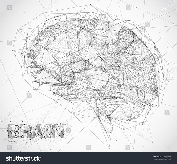 threedimensional vector cyber brain. neural network mega