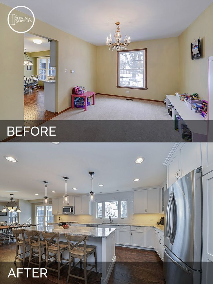 135 best before and after images on pinterest before for Kitchen remodel before after