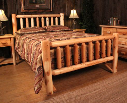 Log Bed Frame...Jack Is Making One For Our Room!
