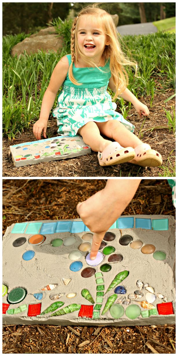 Weekday Crafternoon: How to Make a Kid's Garden Stepping Stone (http://blog.hgtv.com/design/2013/07/23/weekday-crafternoon-kids-garden-stepping-stone/?soc=pinterest)