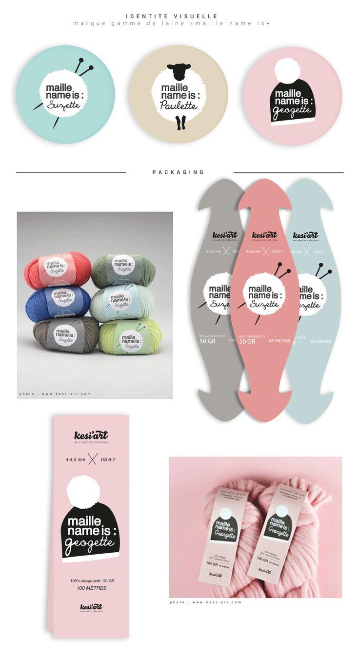 Création Identité visuelle & packaging pour Kesiart - Gwennaelle AGNES graphiste