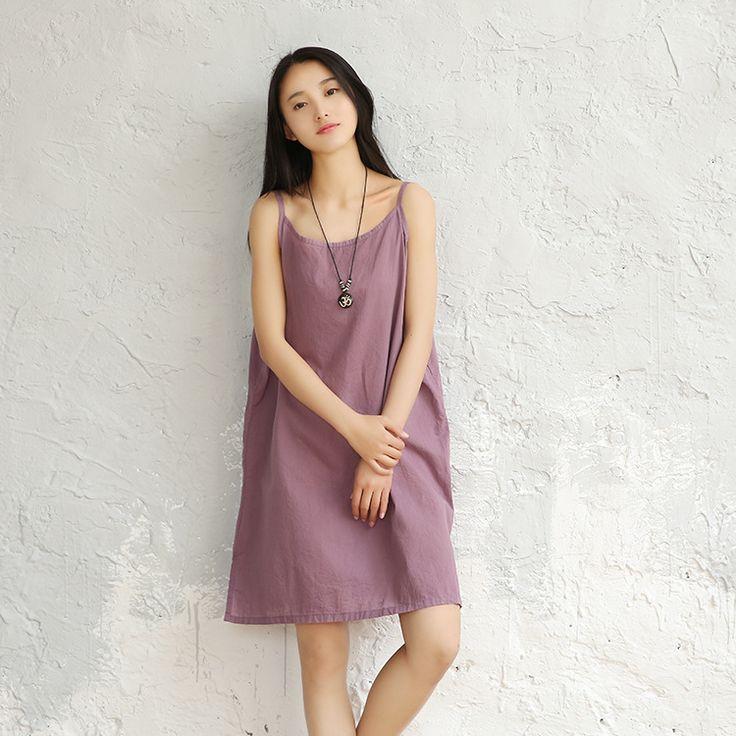 女性のドレス綿スリップ固体キャミソール女性フル100%レディースロングドレスランジェリーサテンスリップ白いノースリーブブロード