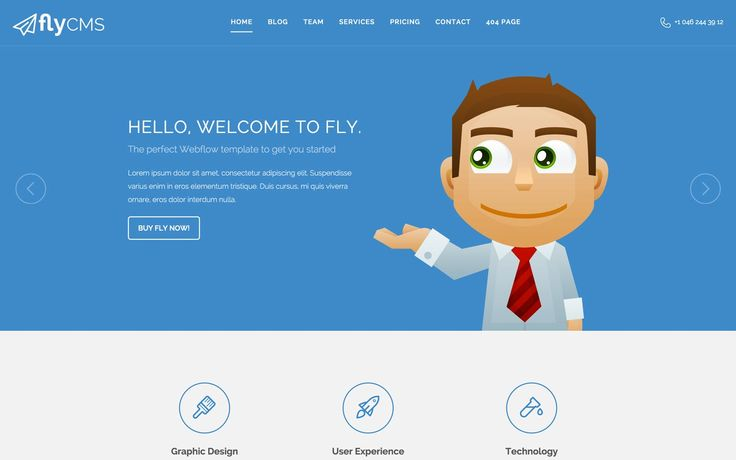 Fly CMS – Corporate Website Template | Meteorsites WebsitesFly is a Meteorsites template that combines a minimal modern design with the right amount of features to help you create an outstanding site for your business in no time.