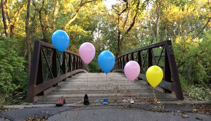Pregnancy announcement, third baby, balloon announcement, shoe announcement