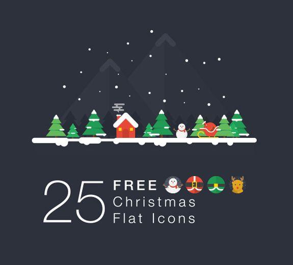 Free flat icons #Christmas