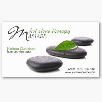 39 best salon spa business cards images on pinterest spa salon lastone hot stone massage day spa business card fbccfo Image collections