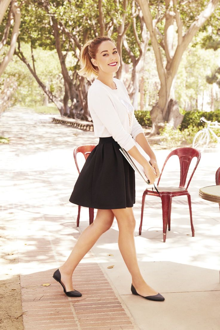 Lightweight sweaters and simple skirts were made for each other. LC Lauren Conrad at #Kohls