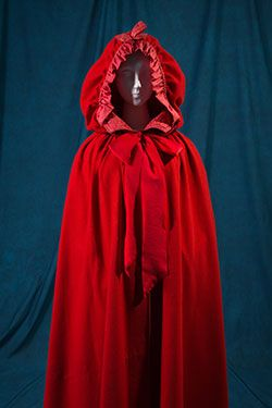 Fairy Tale Fashion at MFIT 18th century cape. (Little red riding hood)