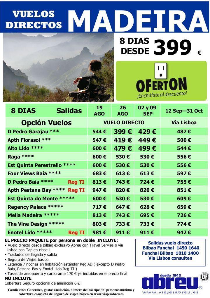 Madeira Vuelos DIRECTOS desde Bilbao ultimas plazas salidas 19 Ago a 31 Oct 8 dias desde 399 € - http://zocotours.com/madeira-vuelos-directos-desde-bilbao-ultimas-plazas-salidas-19-ago-a-31-oct-8-dias-desde-399-e/