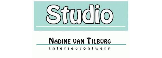 Logo studio Nadine van Tilburg:-) Interieurontwerp en advies.