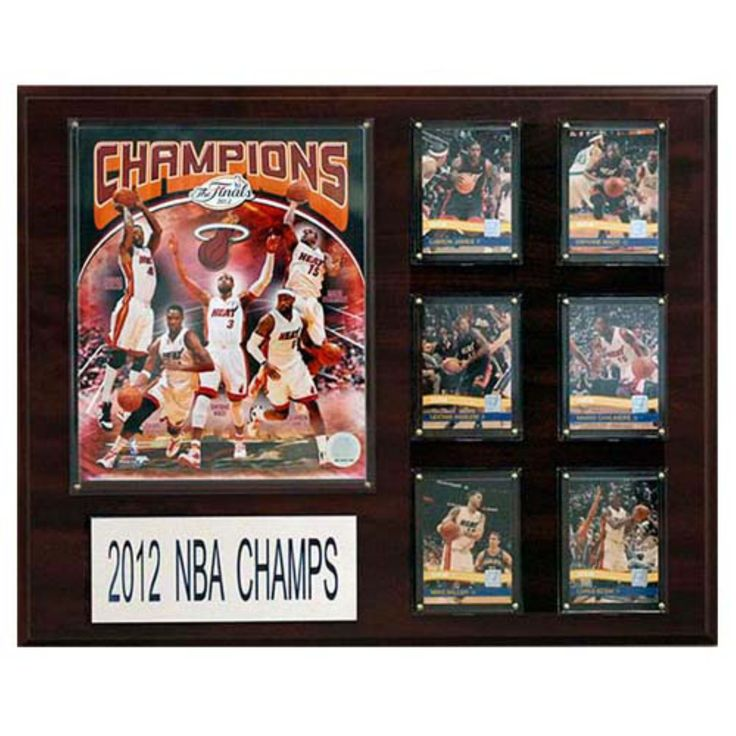 C and I Collectables NBA 20W x 16H in. Miami Heat 2012 - 2013 NBA Champions Plaque - 1620NBA13