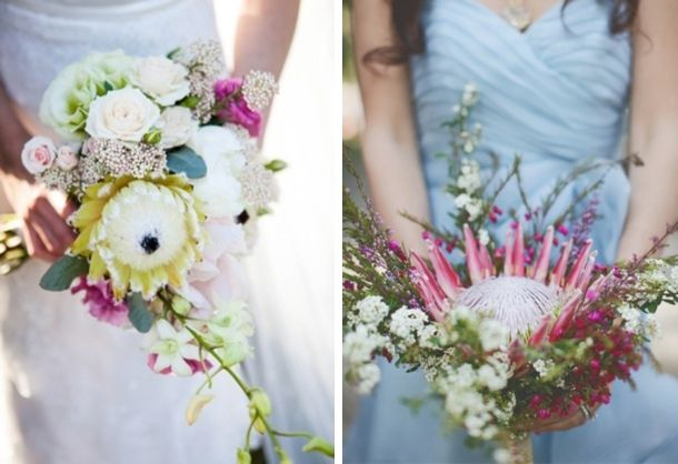 New Ways with Proteas {Bouquets}