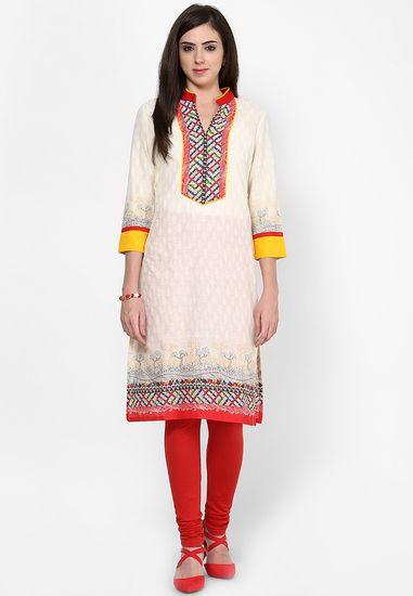 Multi Printed Kurta - Akyra Kurtas & kurtis for women | buy women kurtas and kurtis online in indium
