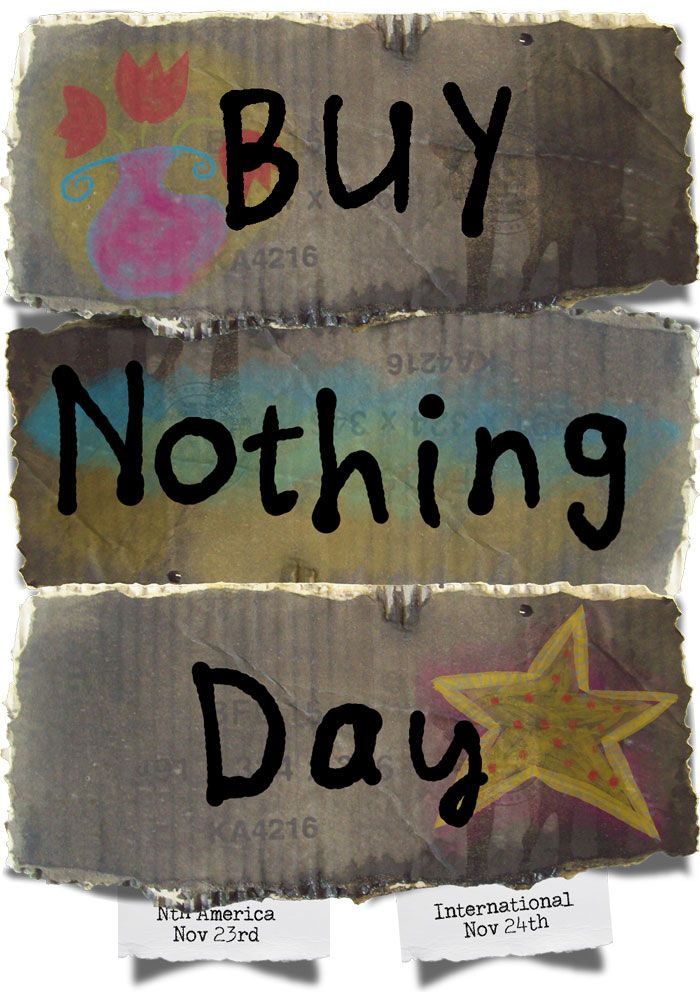 Don't buy from my shop today, everything is free! #buynothingday http://artgrowlove.com/dont-buy-from-my-shop-today/
