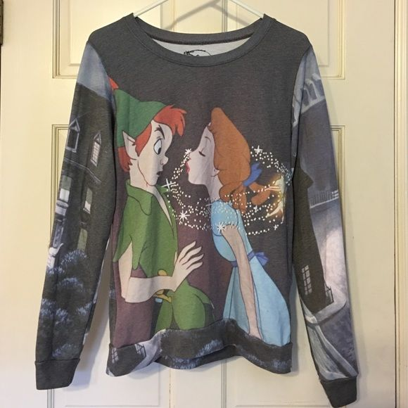 Hot Topic Disney Peter Pan Sweatshirt M Cute Disney Peter Pan crew neck sweatshirt from Hot Topic. It's in good condition-- a little pilling, but lots of life left. Lots of fun for Disney fans! Hot Topic Sweaters Crew & Scoop Necks