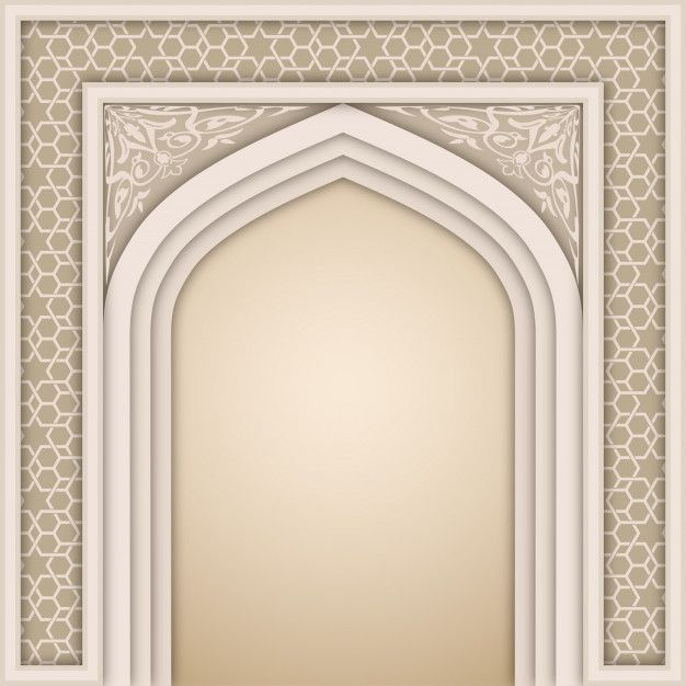 Islamic Arch Design Template Design Template Glass Painting Designs Poster Background Design