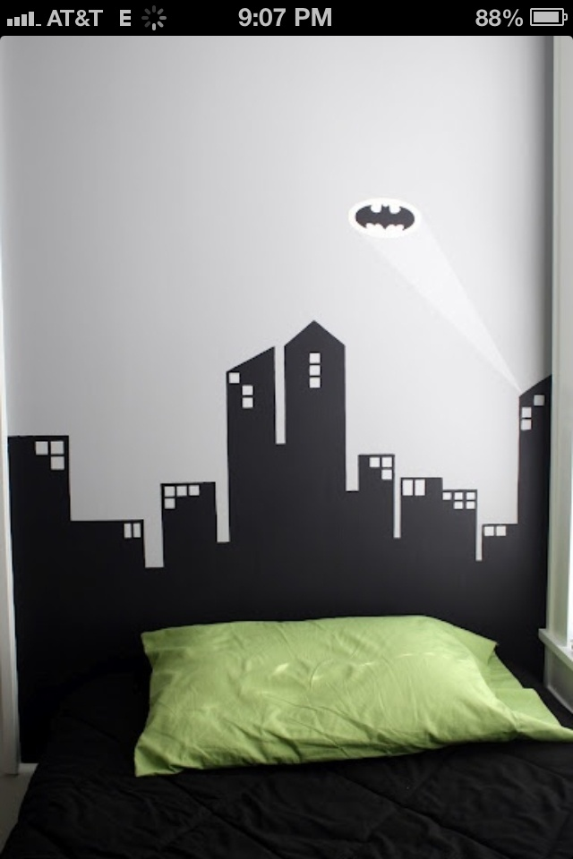 17 best images about city skyline on pinterest chicago for Batman cityscape wall mural