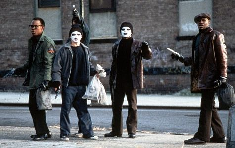 Still of Larenz Tate, Freddy Rodríguez, Keith David and Bokeem Woodbine in Dead Presidents (1995)
