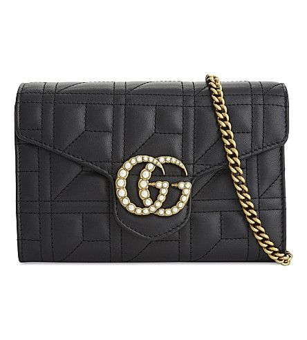 GUCCI - Marmont leather cross-body bag  8db4d0425c238