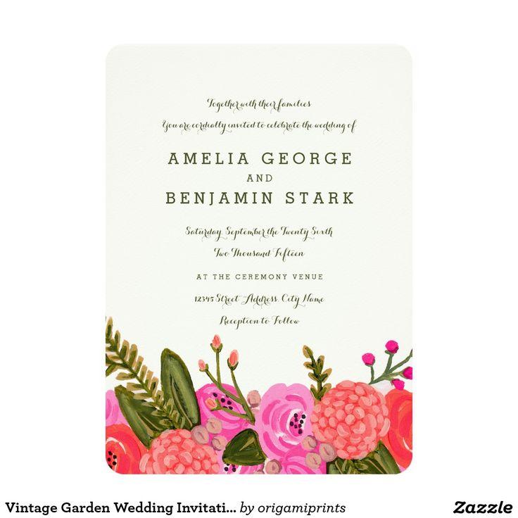 599 best Flower Wedding Invitations images on Pinterest | Bridal ...
