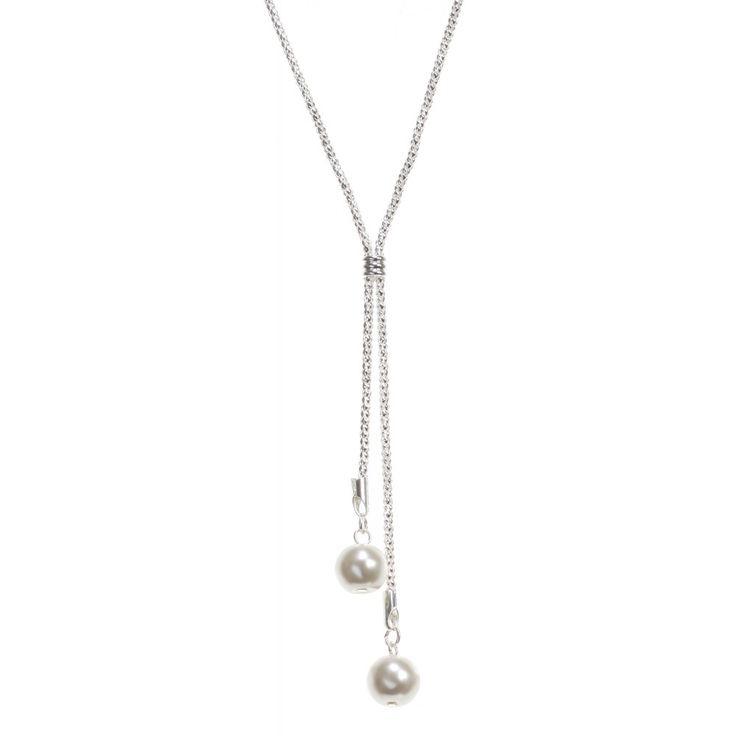 Collier long pendentif perles