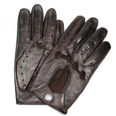 Gants de Conduite Homme Cuir Brun Glove Story