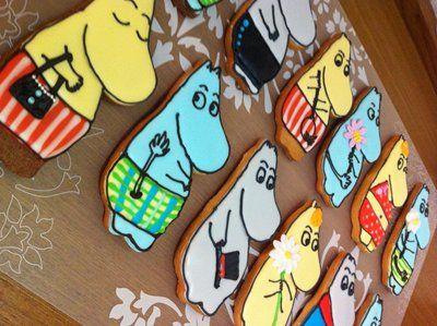 Home baked Moomin cookies