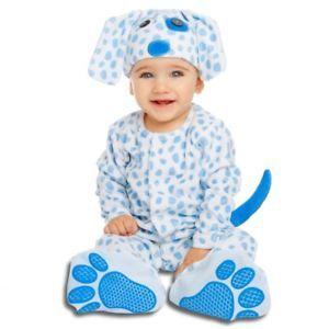 a disfraz bebe perrito azul 7 12 m