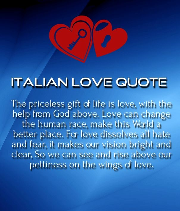 English In Italian: Italian Love Quotes For Him And Her