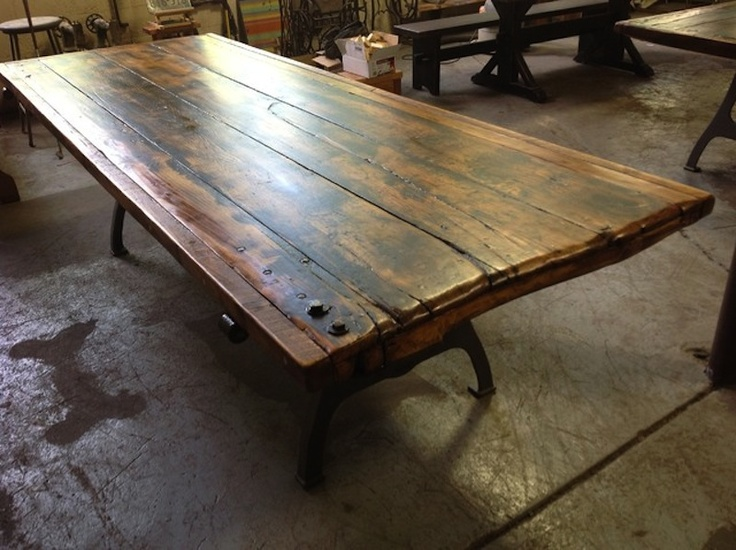 Table Made From Old Door