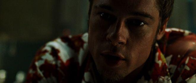 "Брэд Питт в роли Тайлера Дёрдена, ""Бойцовский клуб"" /  Brad Pitt, ""Fight Club"" (реж. Дэвид Финчер, США, Германия, 1999) #бойцовскийклуб #бредпитт #фильм"