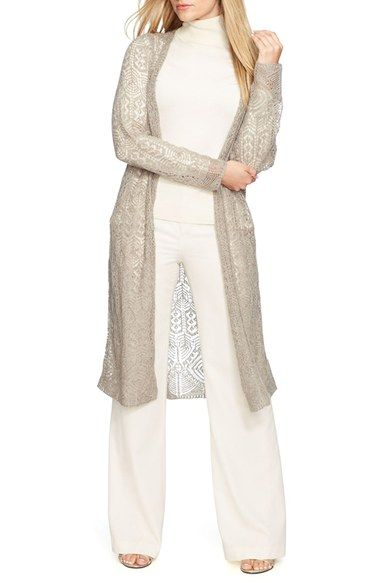Lauren Ralph Lauren LaurenRalph Lauren LongOpenFrontCardigan (PlusSize) available at #Nordstrom
