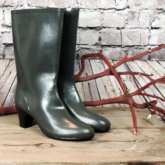 Nokia vintage rubber boots/ 80's vintage boots/ by poetryforjane, $60.00