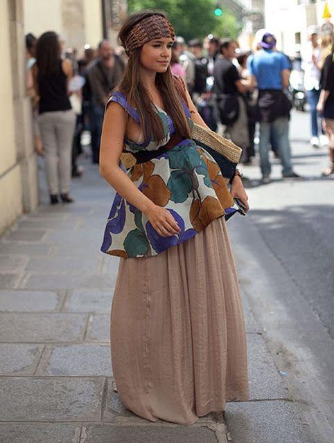 I love this boho look! Perfect for pregnant coachella mama's.