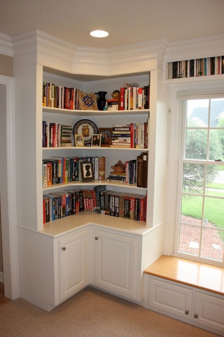 Remodelaholic build wall built desk bookcase cabinet for Build your own corner bookcase