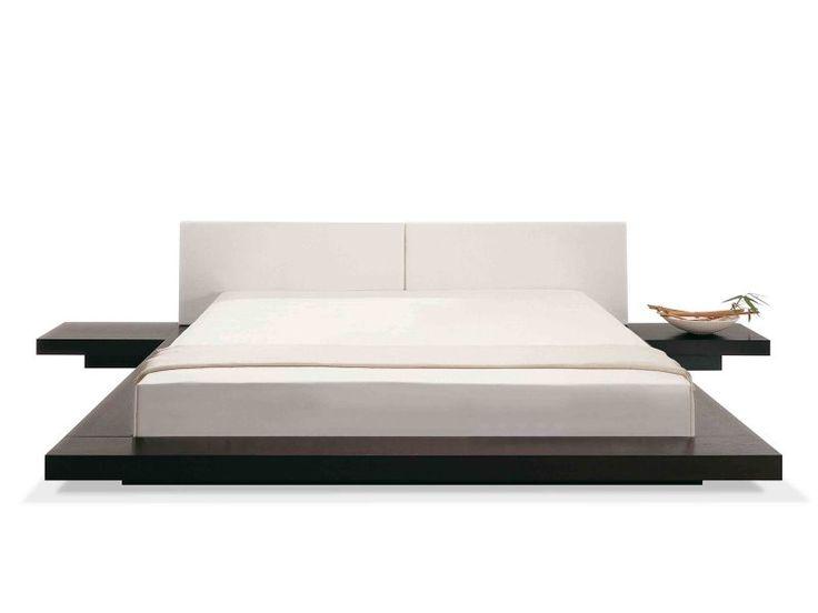 Futonbed – Houten Bed - Bed 180x200 Cm - Japans Design – Lederen Bed - te Koop Aangeboden op Tweedehands.net