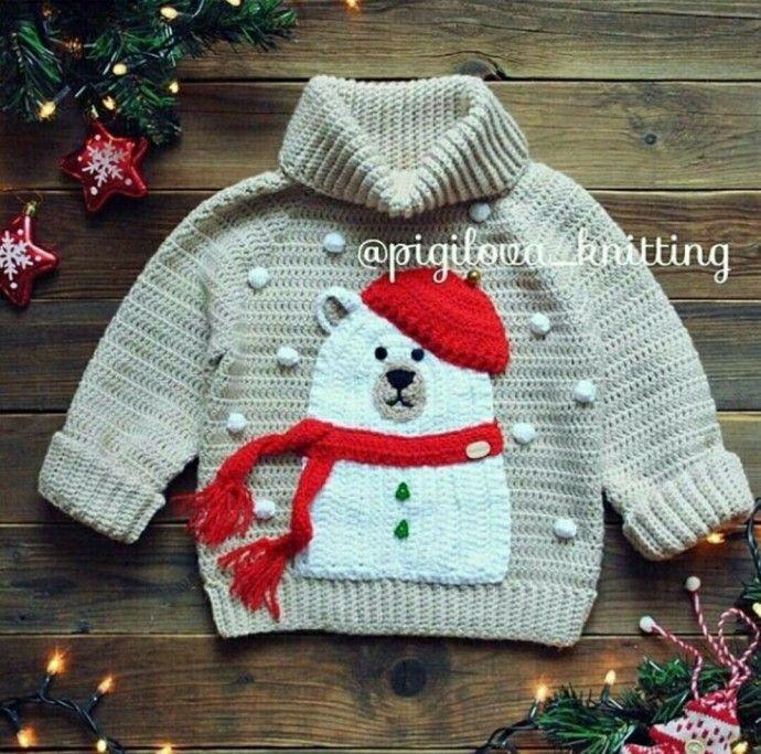 идея как украсить свитер аппликацией деткам вязание свитер