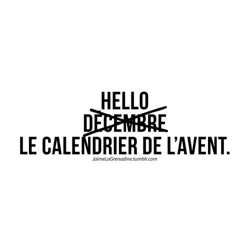 Hello décembre La calendrier de l'avent - #JaimeLaGrenadine