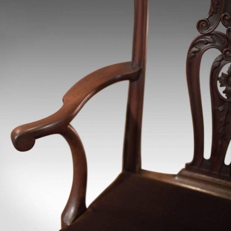 chippendale stílusú antik bútor, chippendale szék