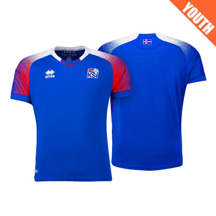 d4cef8b76 Youth Iceland 2018 World Cup Home Blue Jersey