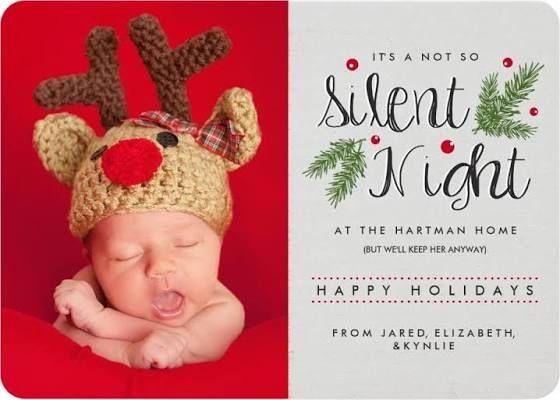 christmas birth announcement card