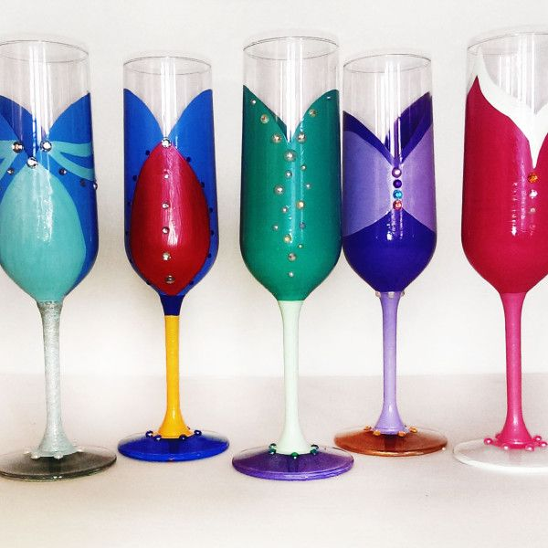 Beautifully hand painted Disney-inspired glassware, perfect for the adult Disney fan. Cheers!