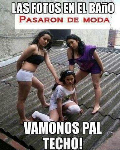 Las Fotos En El Techo Estan de Moda http://chiste.cc/1Q9xF2h  #Chistes #Humor