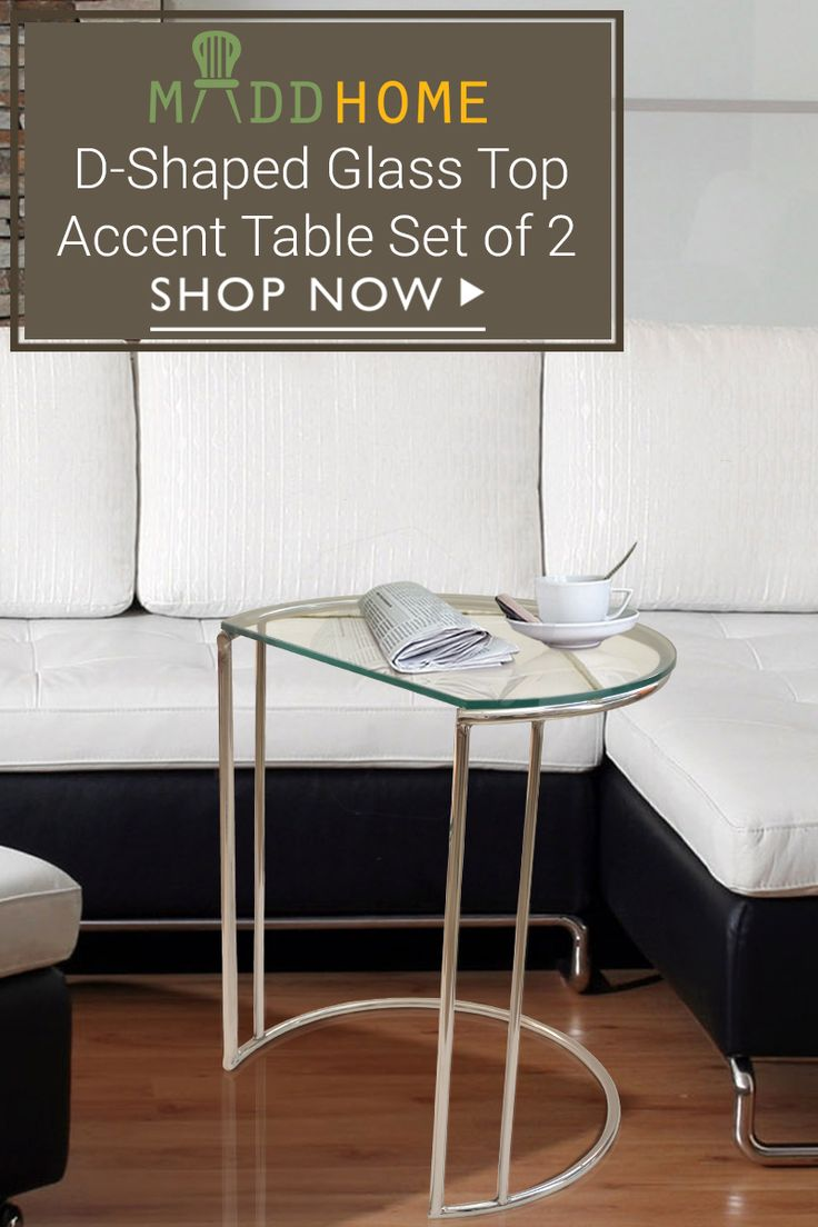 Designed for a perfect urban home, D shaped Glass Top Accent #Table is the one you just can't ignore. Best #online shopping Experience. Click Here: goo.gl/58wNFg